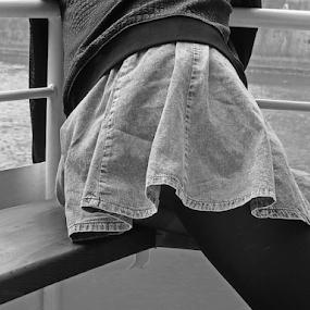 skirt by Renato Dibelčar - People Street & Candids ( skirt, girl, beautiful, slovenia, outdoor, ljubljana, legs, youth, young, river )