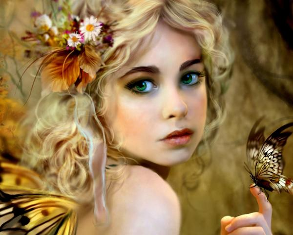 Girl With Flowers In Her Hair, Spirit Companion 1