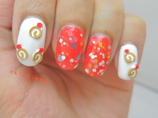 Roll Cake Dessert Nail Art | chichicho~ nail art addicts