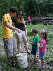 Holly Welles and SBMWSA Stony Brook Stream Walk w Jeff Hoagland at DR Greenway