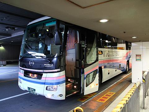伊予鉄道「道後エクスプレスふくおか号」 5208 西鉄天神バスセンター到着