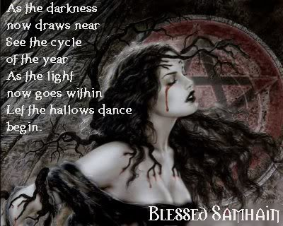 Blessed Samhain Blood, Blessed Be