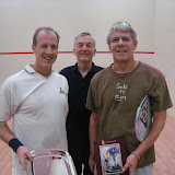 2012 Mature Event, Men's 50+: Barclay Douglas (winner), Lew Holmes (tourney chair), and Rip Hastings (runner up)