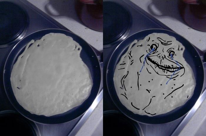 Forever Alone Pancake