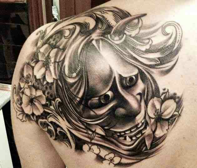 Welcome To World Tattoo MindFreak!: Japanese Mask Tattoo Design