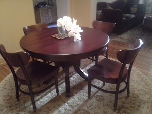 48″ Montrose Round Table in Rose Maple