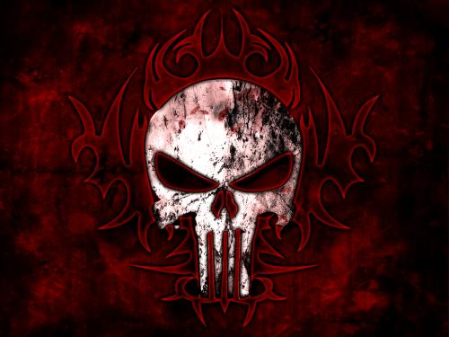 Dark Skull In Satanic Symbols, Death