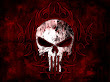 Dark Skull In Satanic Symbols