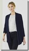 The White Company navy swing cardigan