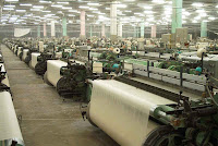 image showing the textile industry of Pakistan.