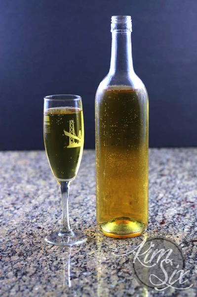 Home made sparkling juice
