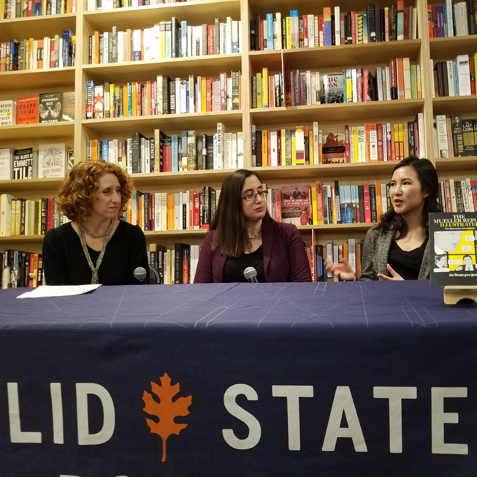 Matea Gold, Rosalind Helderman, and Katherine Lee talking about the Mueller Report Illustrated