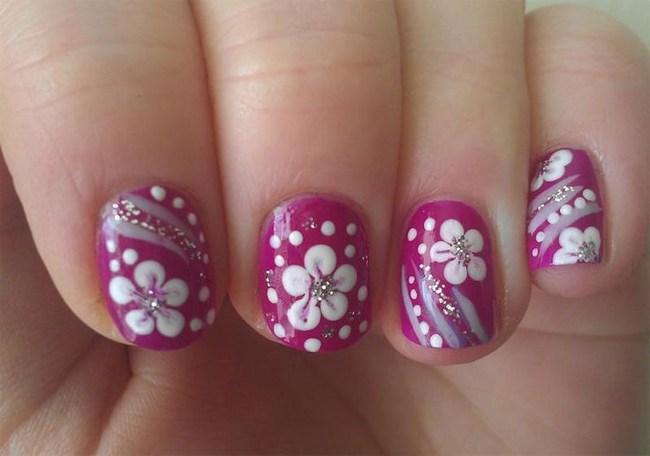 Simple Flower Nail Designs For Girls Styles Art