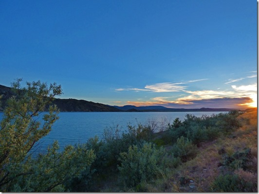 Sunset, Lucerne Campground, Flaming Gorge