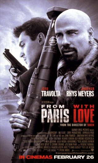 Poster Of English Movie From Paris with Love (2010) Free Download Full New Hollywood Movie Watch Online At alldownloads4u.com
