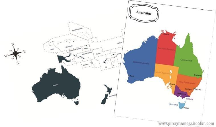 Australia/Oceania Continent Maps