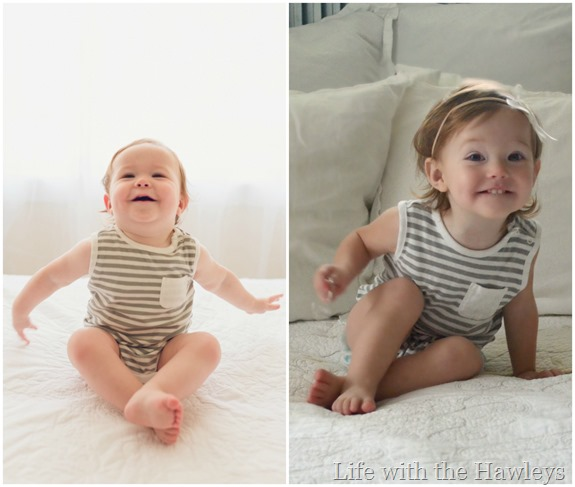 Same Age. Same Onesie. Different Baby.- Life with the Hawleys