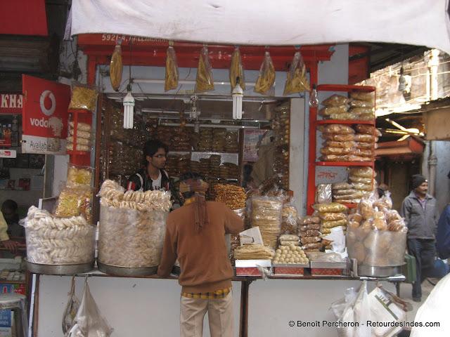 Vendeur de snacks, Vieux Delhi