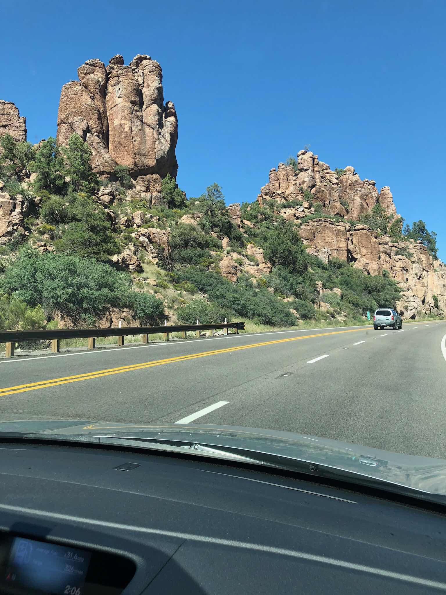 Driving from Phoenix to Safford, Arizona