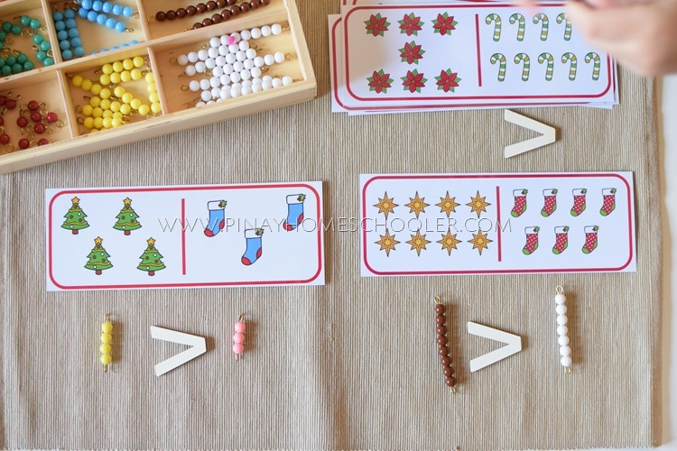 Montessori Math Comparing Numbers Activity