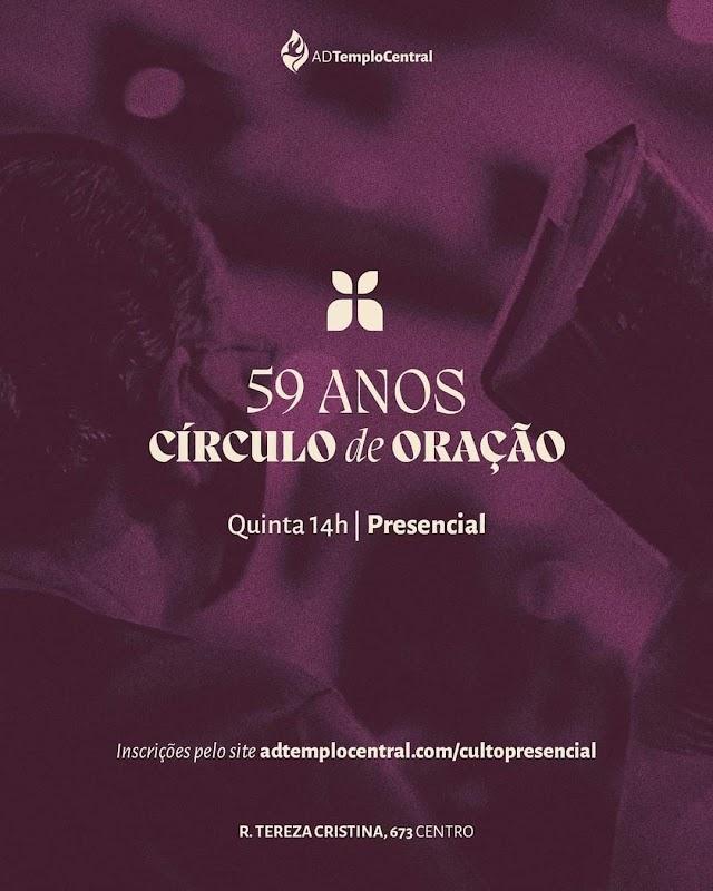 ADTC de Fortaleza  comemora os 59 anos de existência do Circulo de oração.