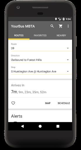 MBTA Boston Bus and Rail Tracker screenshots 1