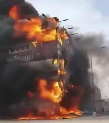 تفاصيل حريق مطعم البيت الرومانسي الرياض