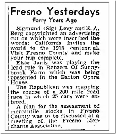 Forty Years Ago - Visit Fresno County 3_22_1952