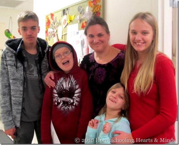 Me and my crew at Homeschooling Hearts & Minds