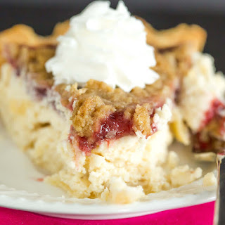 Cranberry Cream Cheese Crumb Pie
