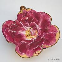 """Rose hellpurpur"", Öl auf Eibenholz, 10x15, 2006"