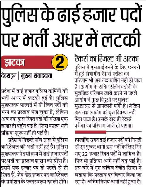 Uttarakhand Police Bharti 2021