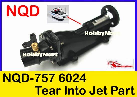 Electric NQD 757-6024 RC Boot Turbo JET Ersatzteil mit 390 Motor Zubehör T