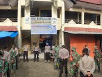 Polres Gowa Dan Kodim 1409 Gelar Apel Penyemprotan Desinfektan Di Kecamatan Bontonompo Gowa