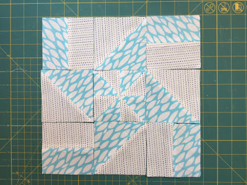 Block 4: Disappearing pinwheel quilt sampler