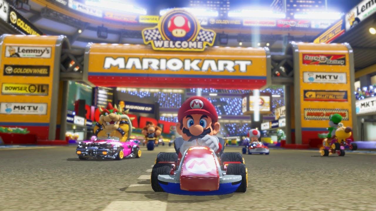 mario kart-mario kart 8-nintendo carreras-princesa peach en mario kart