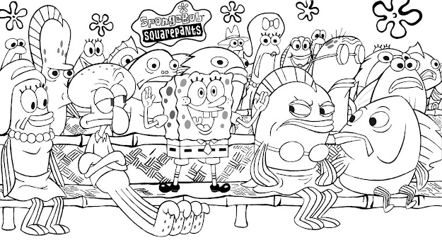 Take The Attention Spongebob Coloring Pages Free