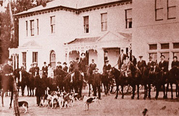 Otago Hunt at Corstorphine House circa 1900