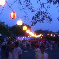 地元自治会の盆踊り大会