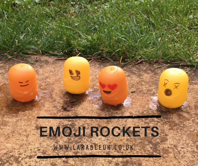 LarabeeUK - kids craft activity- emoji rockets