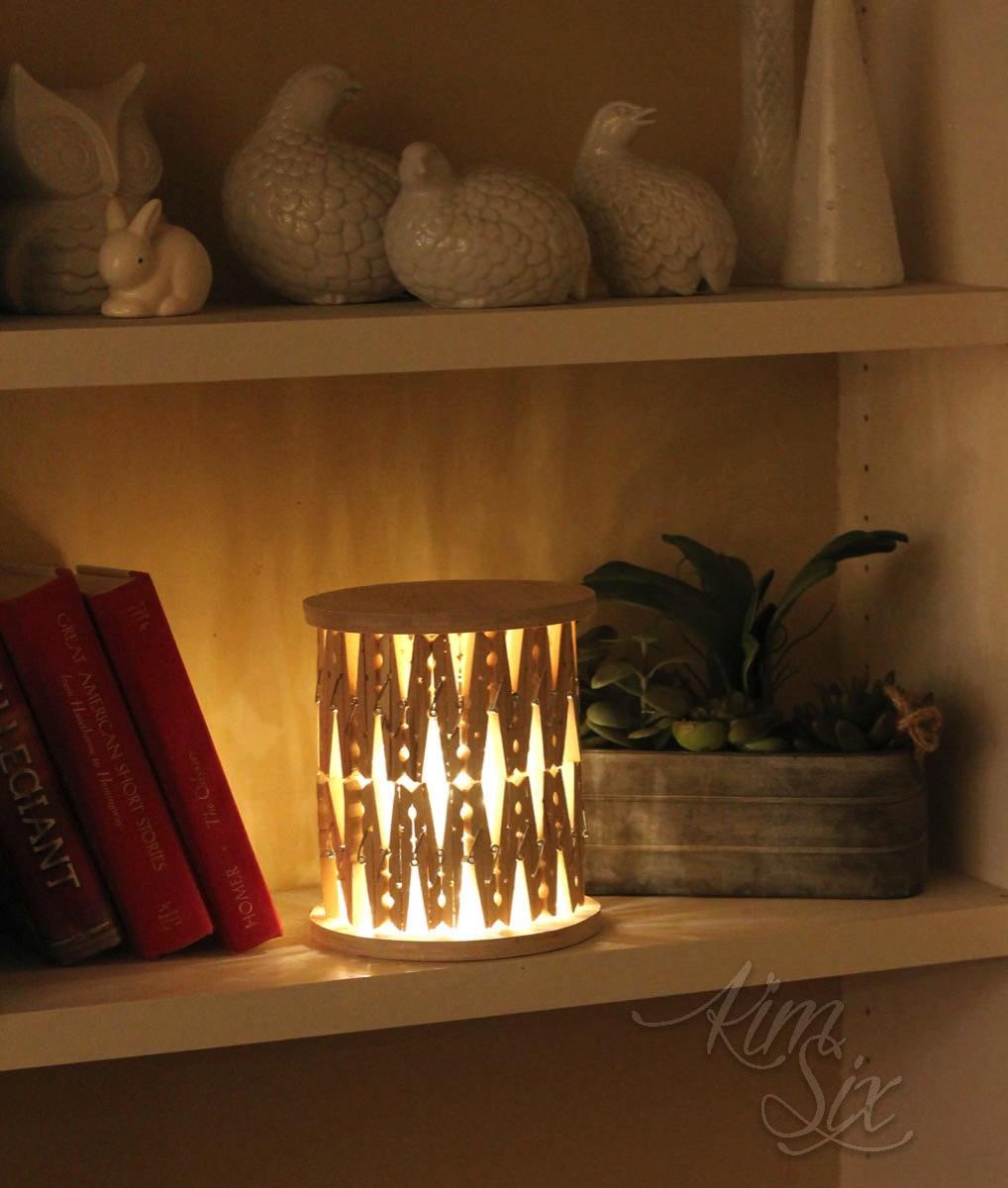 Clothespin lantern