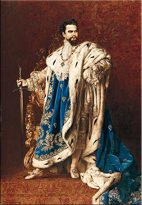 Luis II como Gran Maestre de la Orden de Caballería de S. Jorge. Gabriel Schachinger, Múnich, 1887