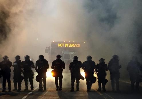 Charlotte bus riot cops