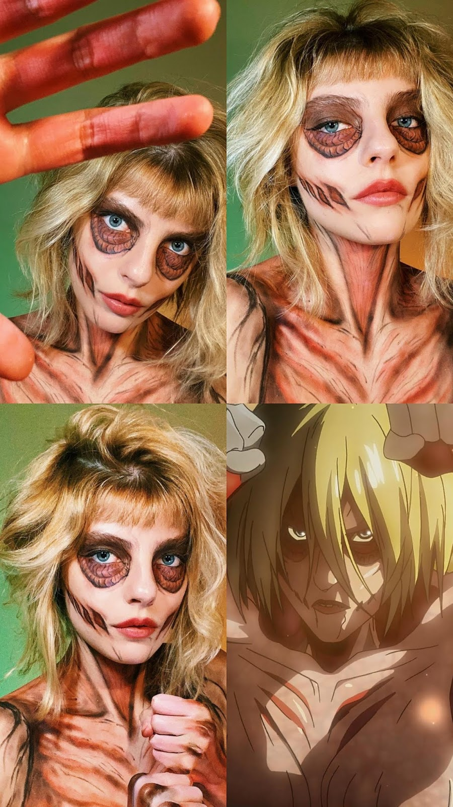Attack on Titan Female Titan Make-up and Cosplay