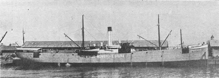 Vapor DOMINGO MUMBRU en Barcelona Ca. 1917. Revista Navegación. Edición.jpg