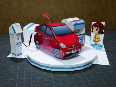 Toyota Prius PHV Papercraft