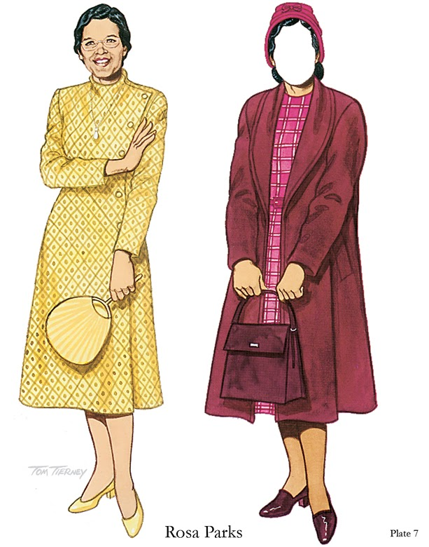 Sampled From Famous African American Women Paper Dolls By Tom Tierney,  Dover Publications, 1994
