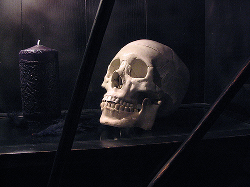 Scull And Black Candle, Candle Magic