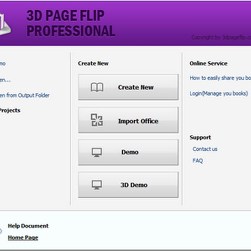 ดาวน์โหลดโปรแกรม PDF3DPAGEFLIP PRO