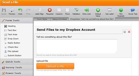 DropBox Upload Via FTP